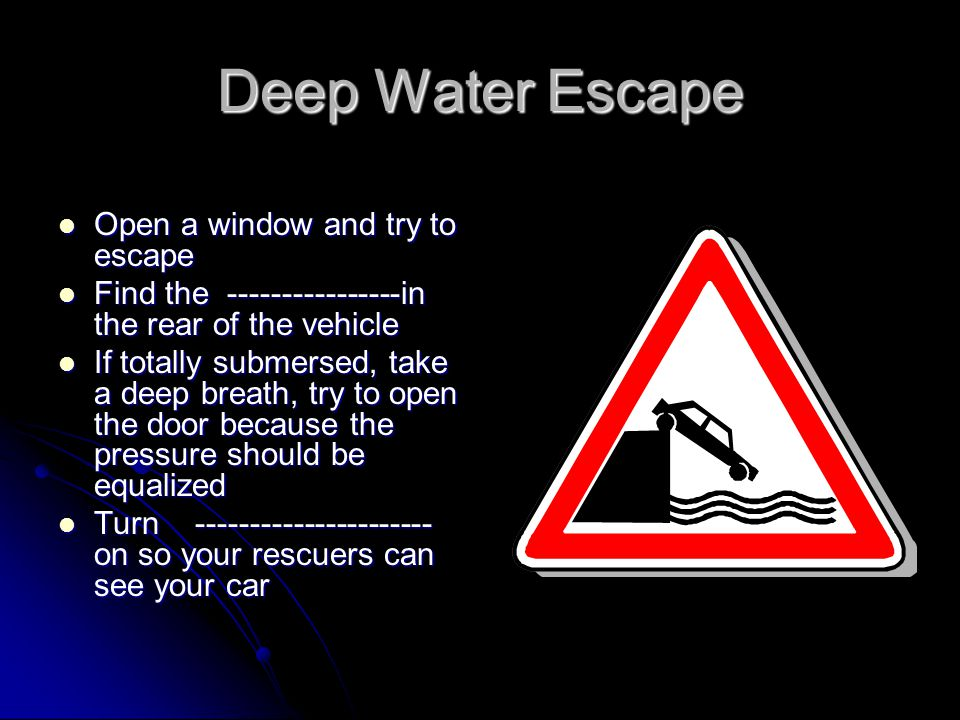 Deep Water Escape Open a window and try to escape