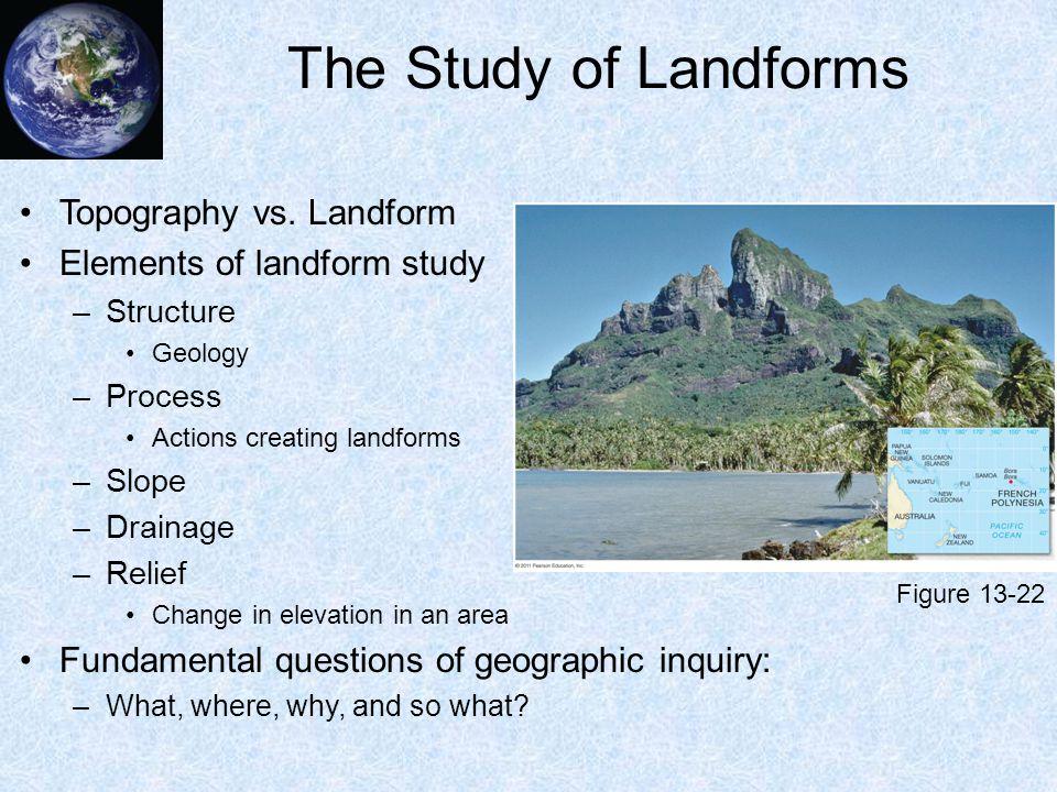 The Study of Landforms Topography vs. Landform