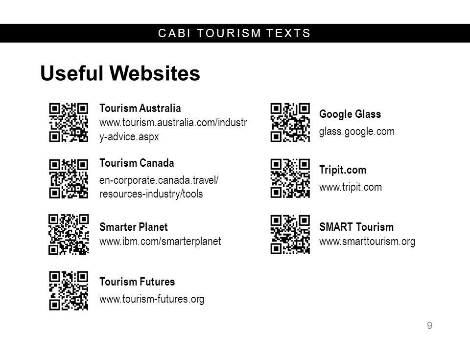 Useful Websites Tourism Australia www.tourism.australia.com/industr y-advice.aspx. Google Glass.
