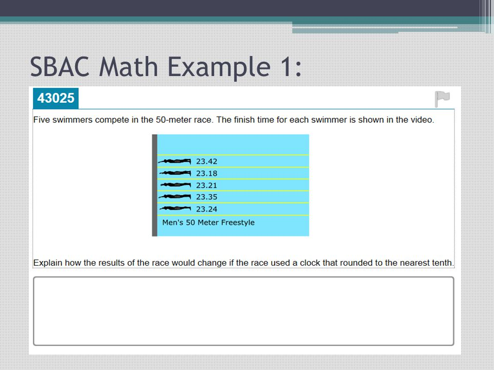 SBAC Math Example 1:
