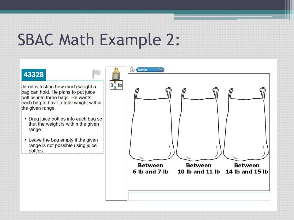 SBAC Math Example 2: