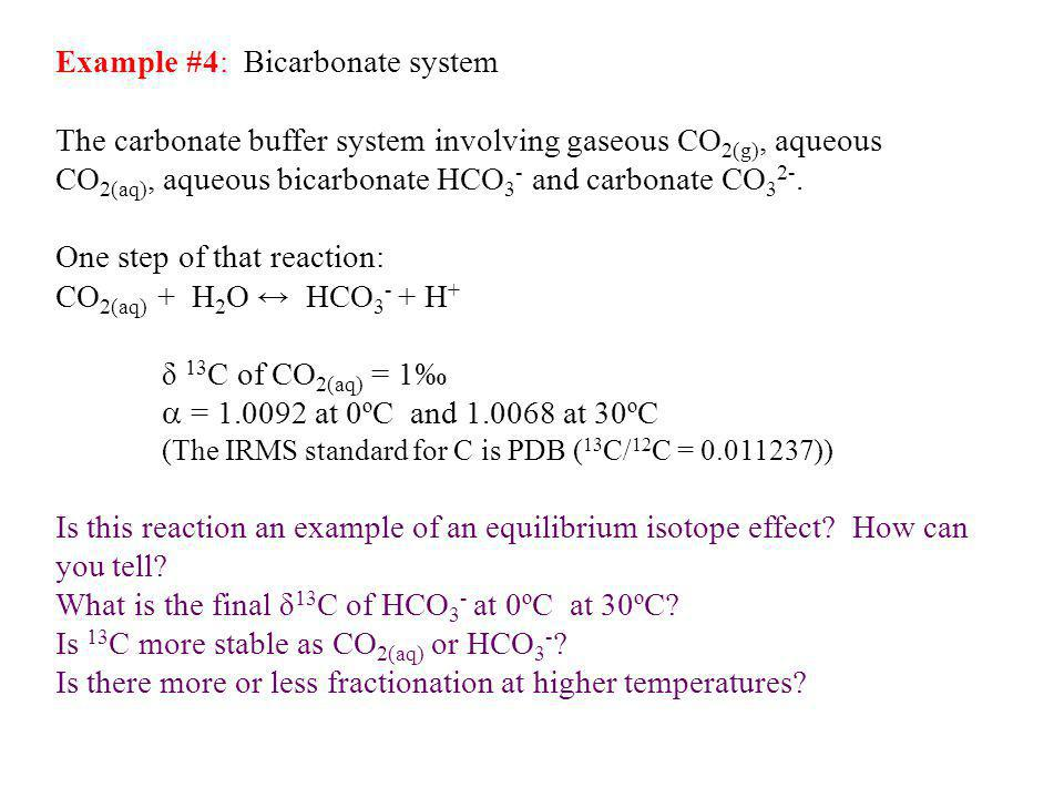 Example #4: Bicarbonate system