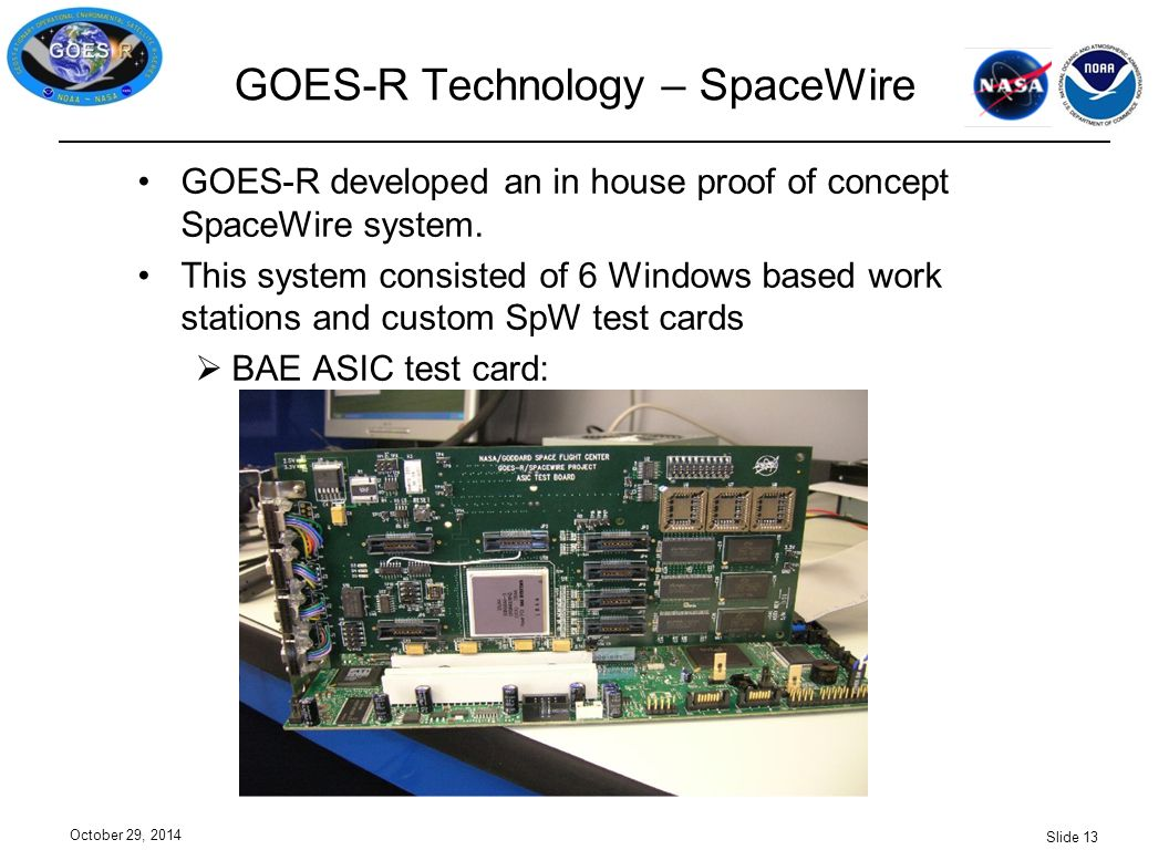 GOES-R Technology – SpaceWire