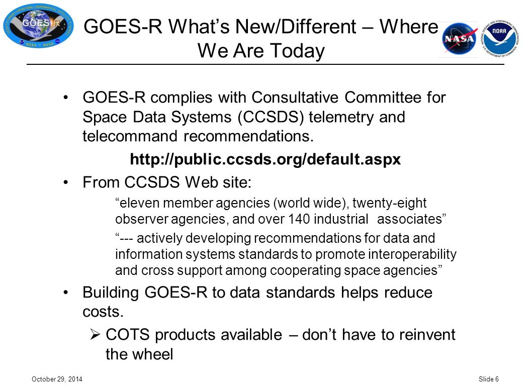 GOES-R What's New/Different – Where We Are Today