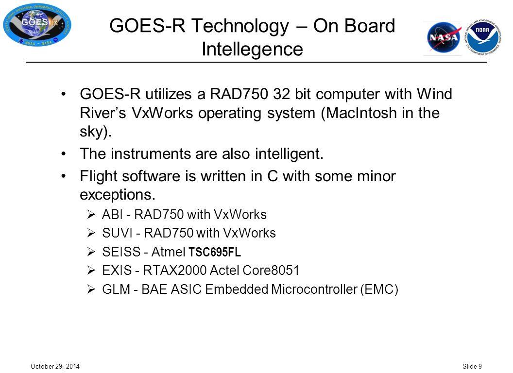GOES-R Technology – On Board Intellegence