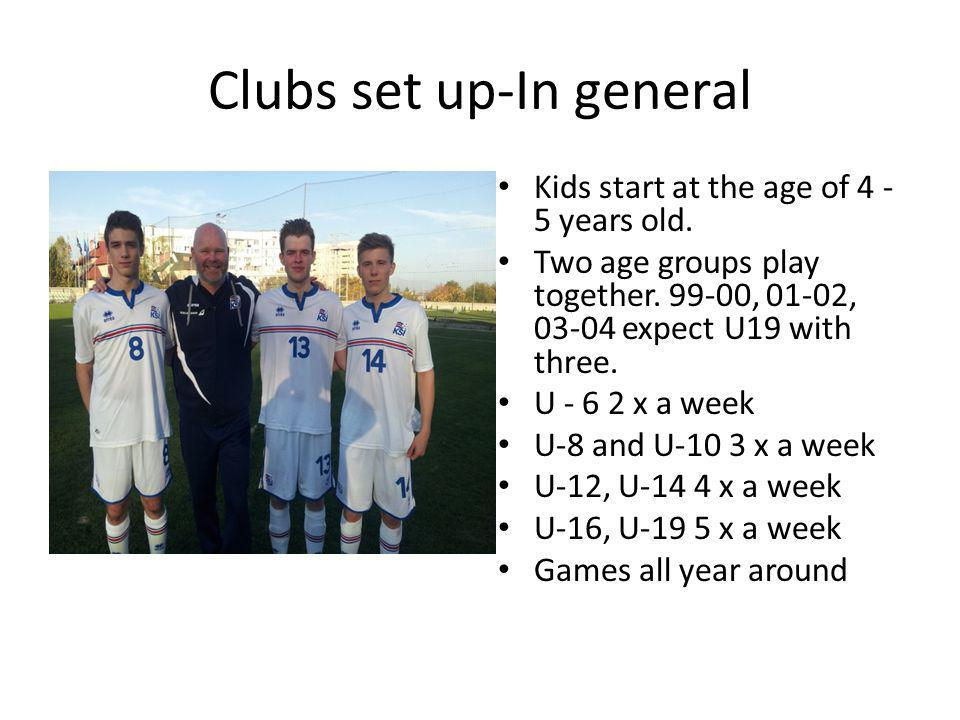 Clubs set up-In general