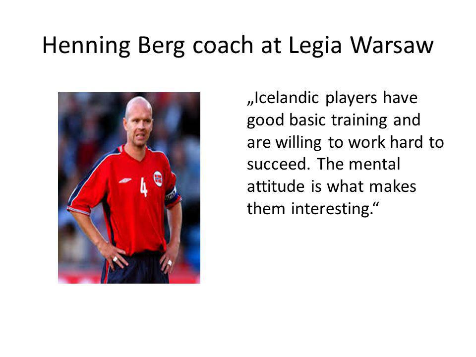 Henning Berg coach at Legia Warsaw