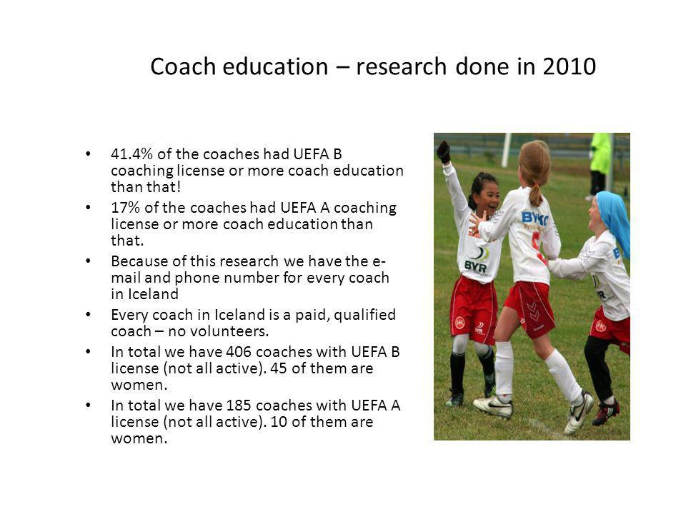 Coach education – research done in 2010