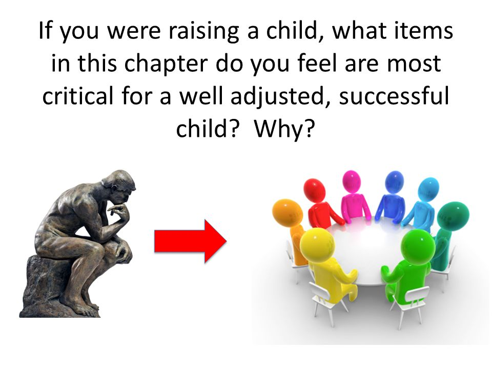 If you were raising a child, what items in this chapter do you feel are most critical for a well adjusted, successful child.