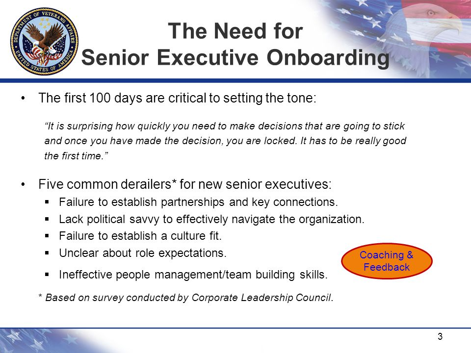 The Need for Senior Executive Onboarding