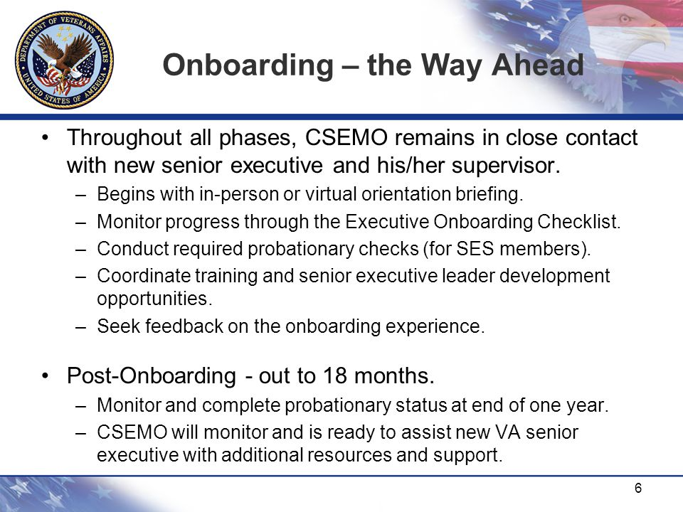 Onboarding – the Way Ahead