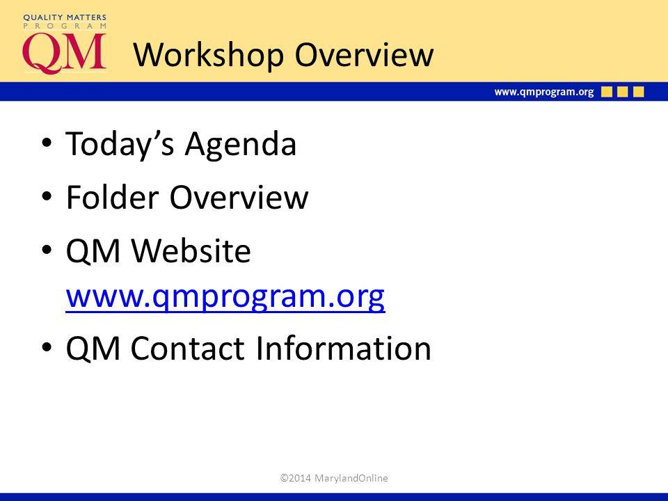 QM Website www.qmprogram.org