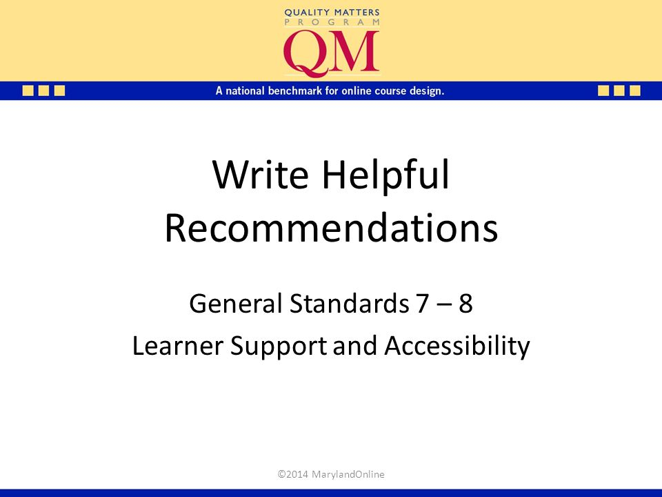 Write Helpful Recommendations