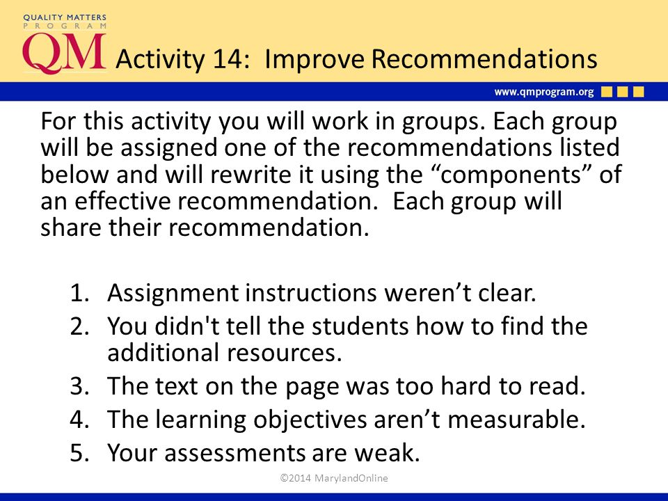 Activity 14: Improve Recommendations