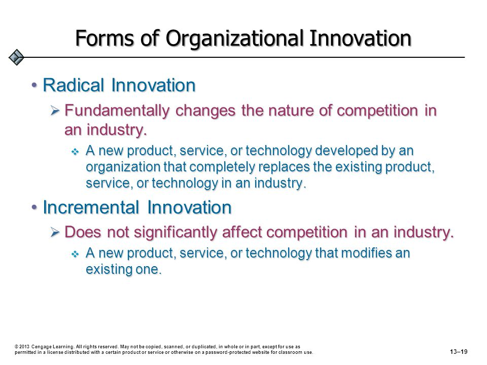 Forms of Organizational Innovation