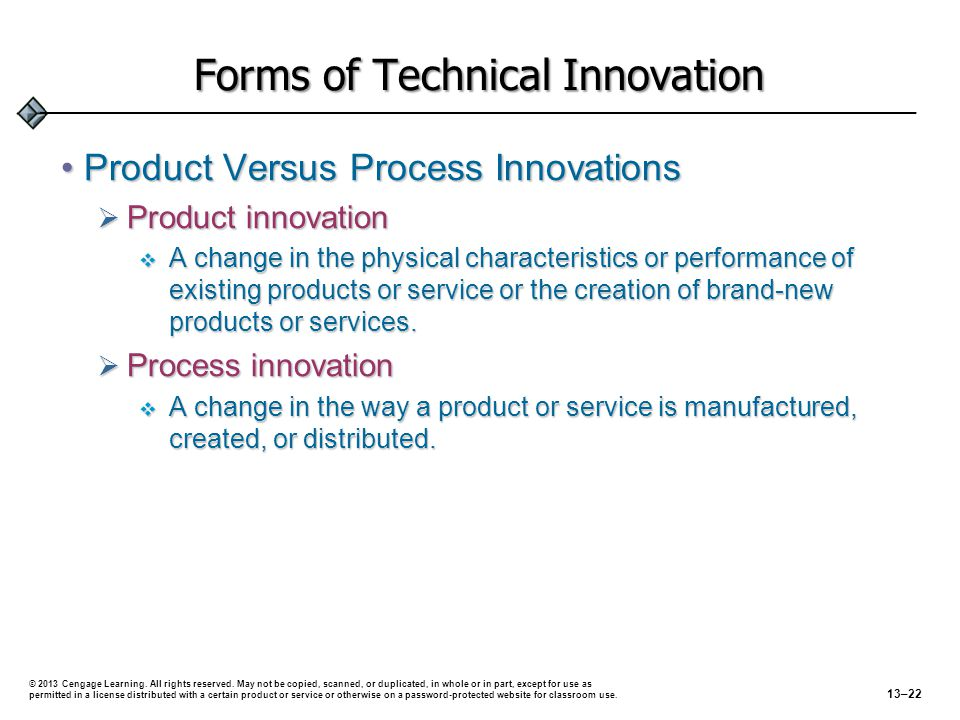 Forms of Technical Innovation