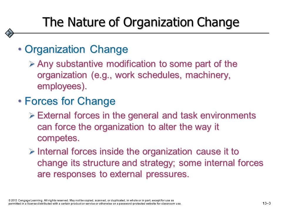 The Nature of Organization Change