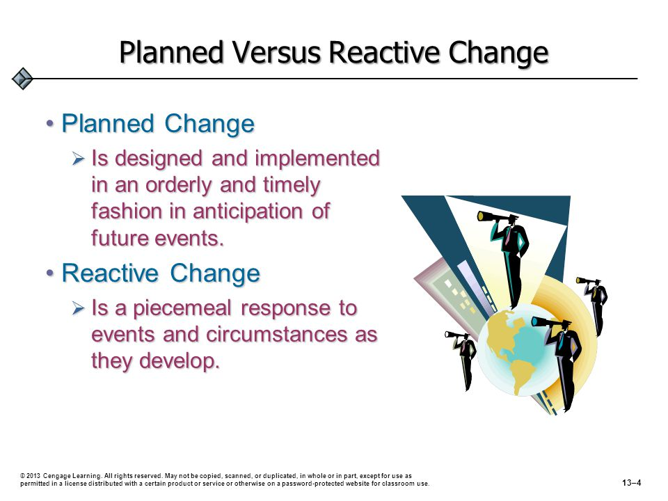Planned Versus Reactive Change