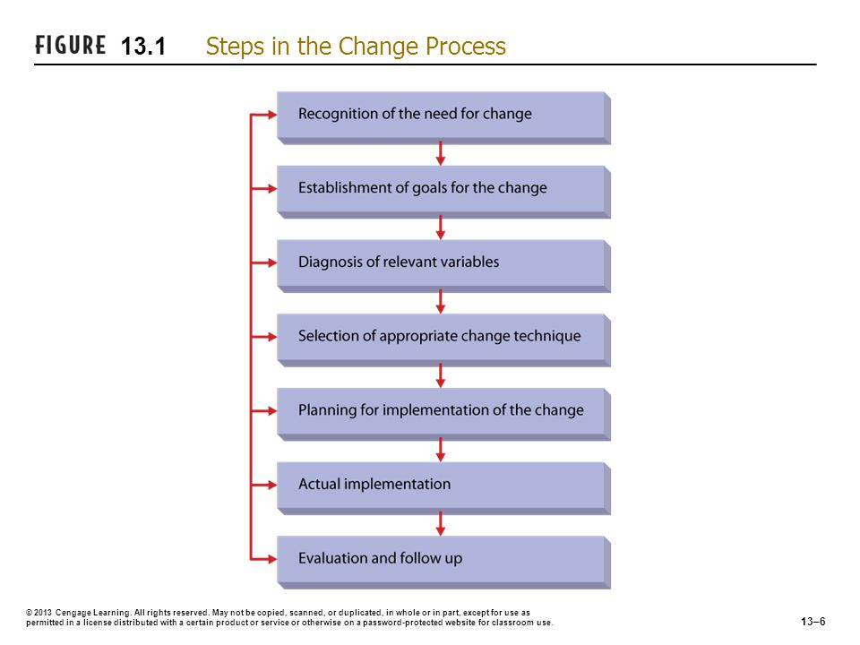 13.1 Steps in the Change Process
