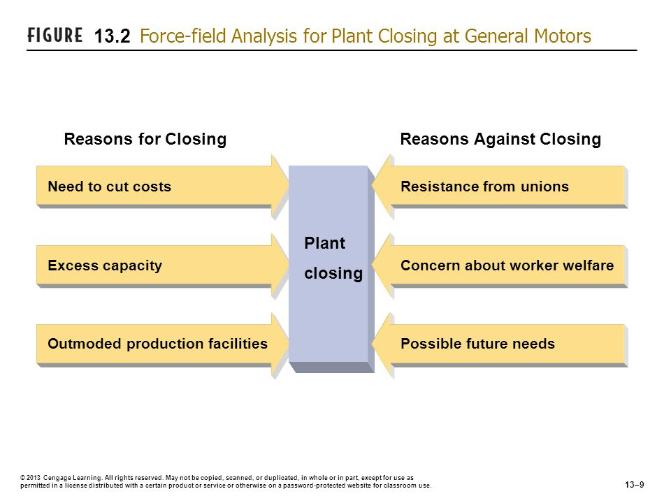 13.2 Force-field Analysis for Plant Closing at General Motors
