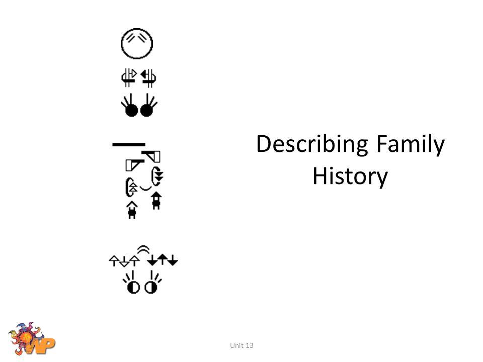 Describing Family History