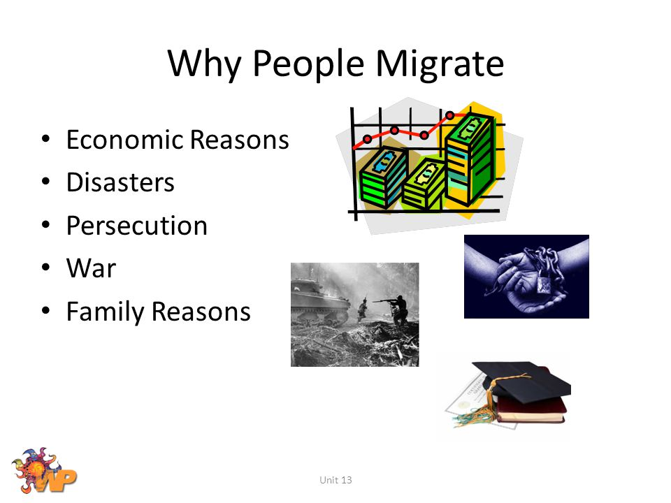 Why People Migrate Economic Reasons Disasters Persecution War