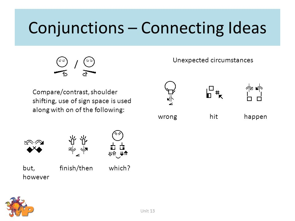 Conjunctions – Connecting Ideas