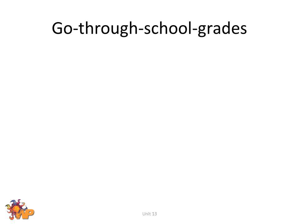 Go-through-school-grades