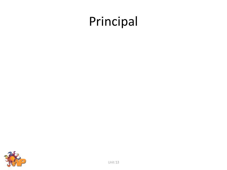 Principal Unit 13