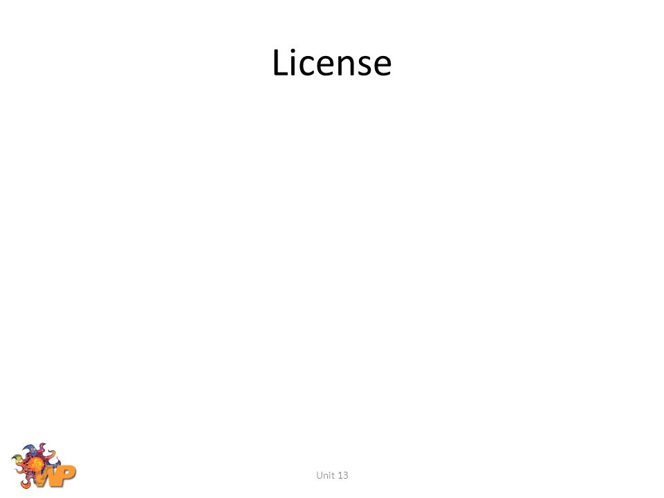 License Unit 13