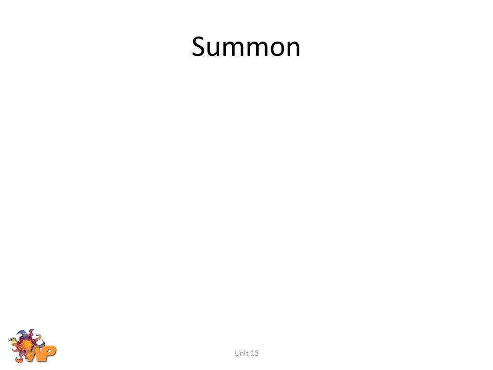 Summon Unit 13