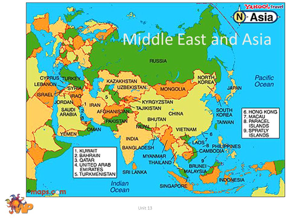 Middle East and Asia Unit 13