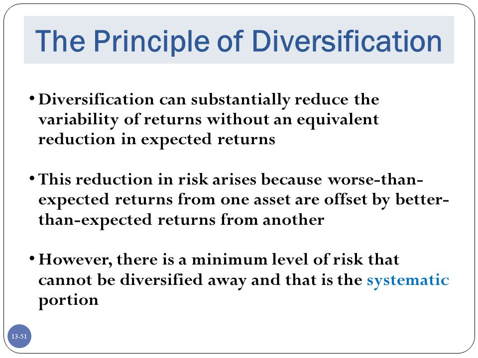 The Principle of Diversification