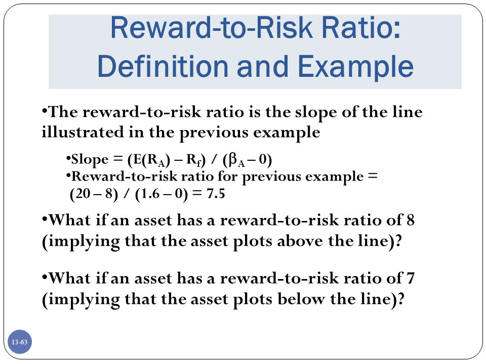 Reward-to-Risk Ratio: Definition and Example