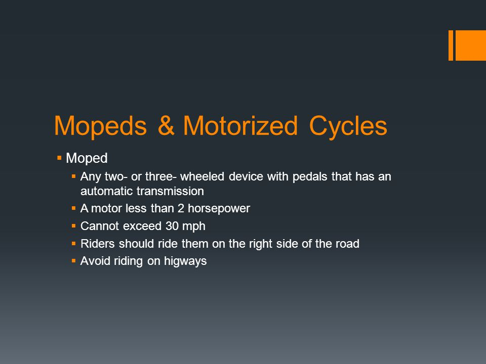 Mopeds & Motorized Cycles