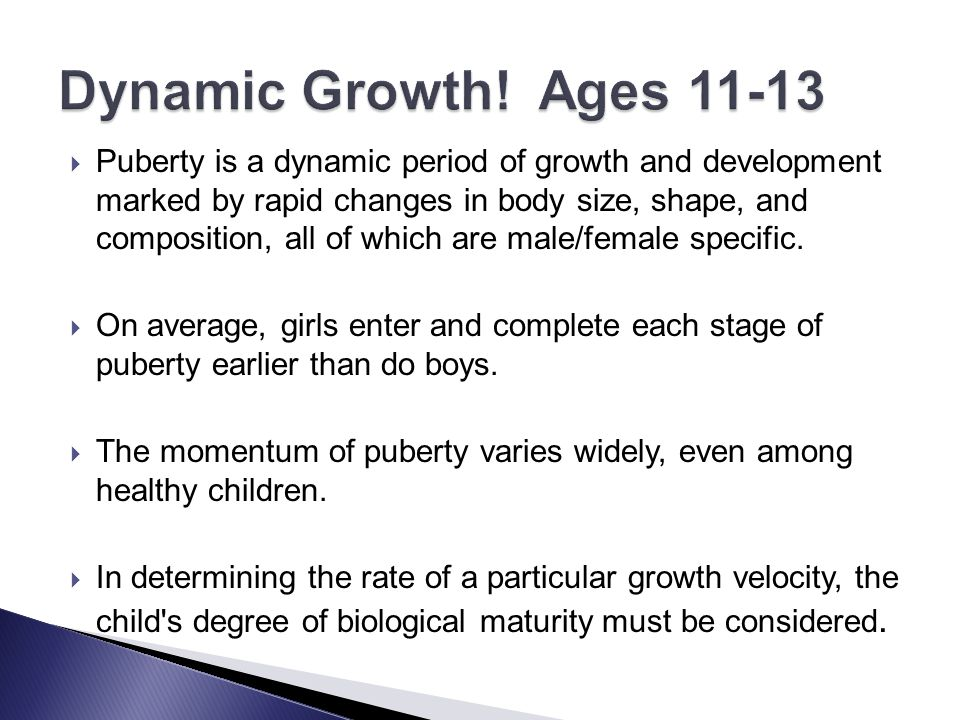 Dynamic Growth! Ages 11-13