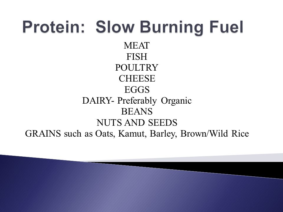 Protein: Slow Burning Fuel
