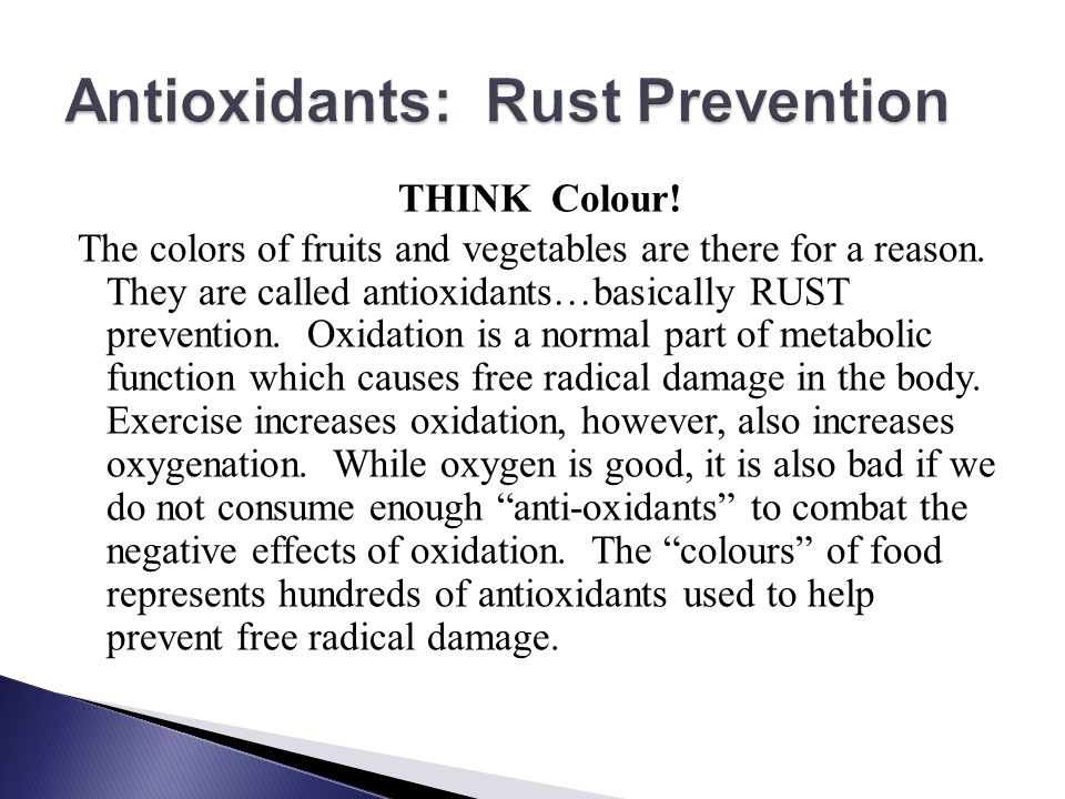 Antioxidants: Rust Prevention