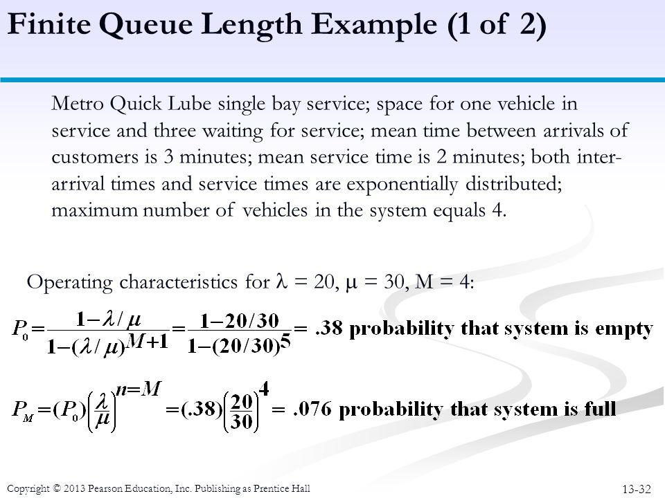 Finite Queue Length Example (1 of 2)