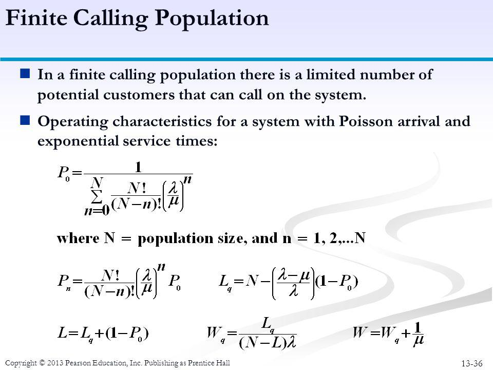 Finite Calling Population