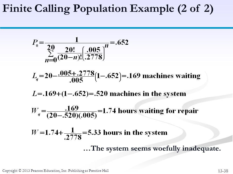 Finite Calling Population Example (2 of 2)