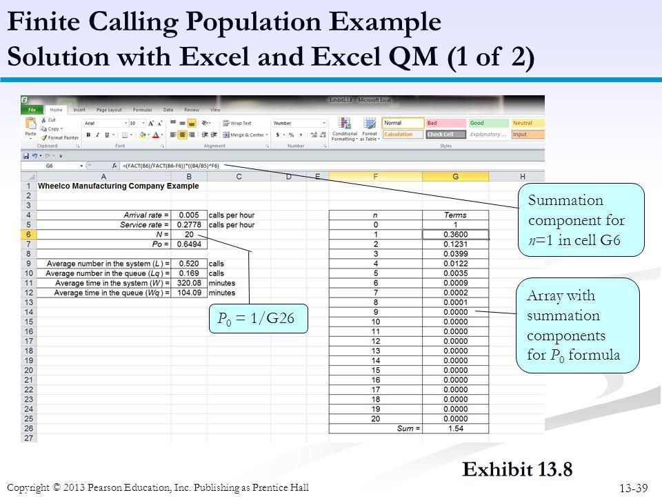 Finite Calling Population Example