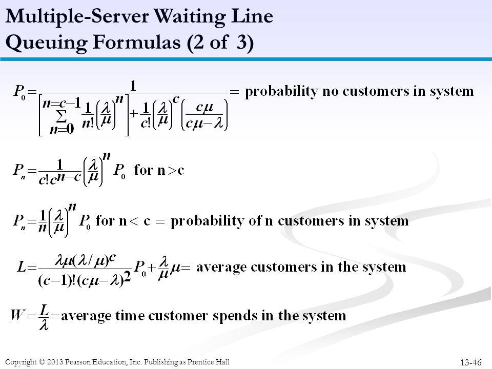 Multiple-Server Waiting Line Queuing Formulas (2 of 3)