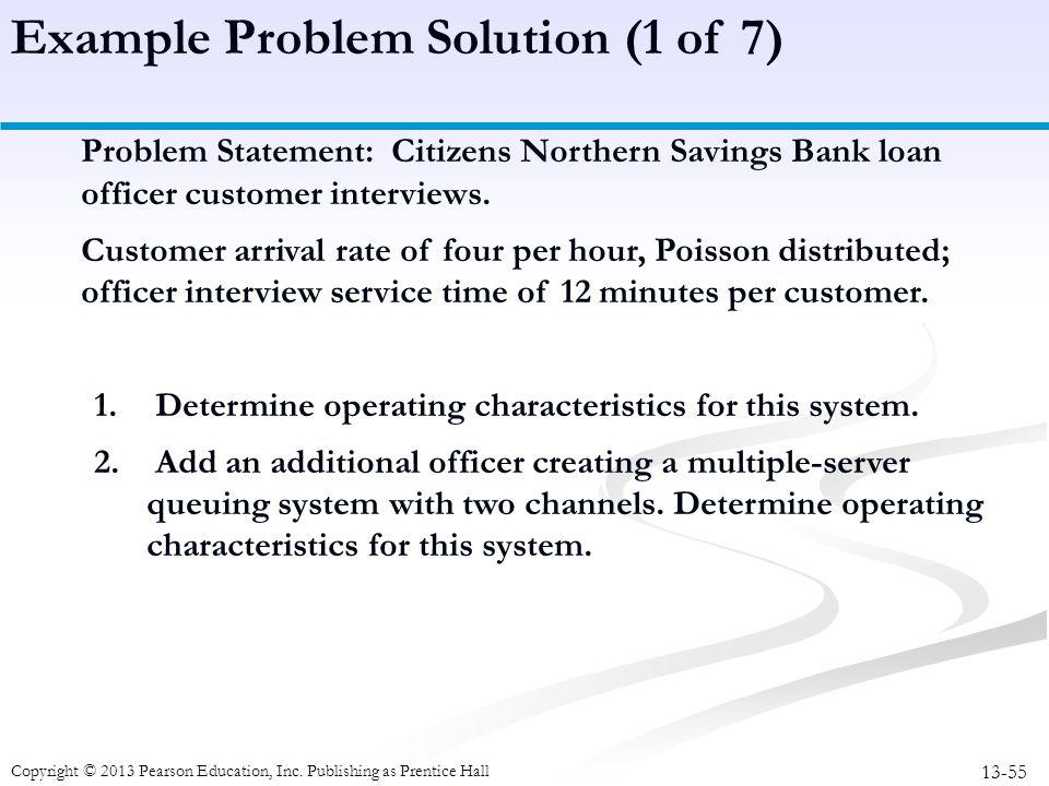 Example Problem Solution (1 of 7)