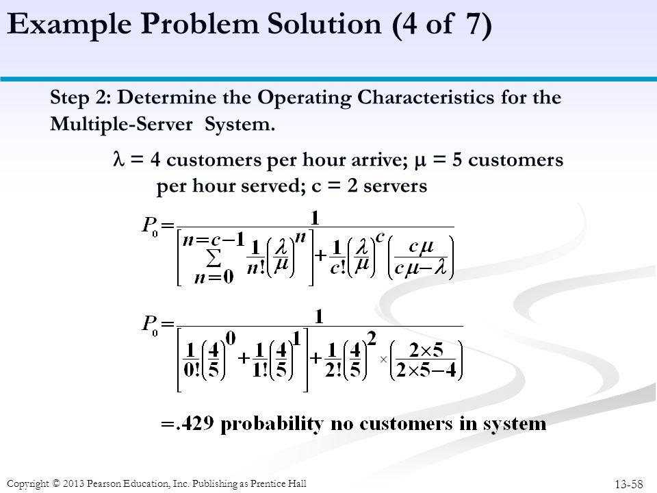 Example Problem Solution (4 of 7)