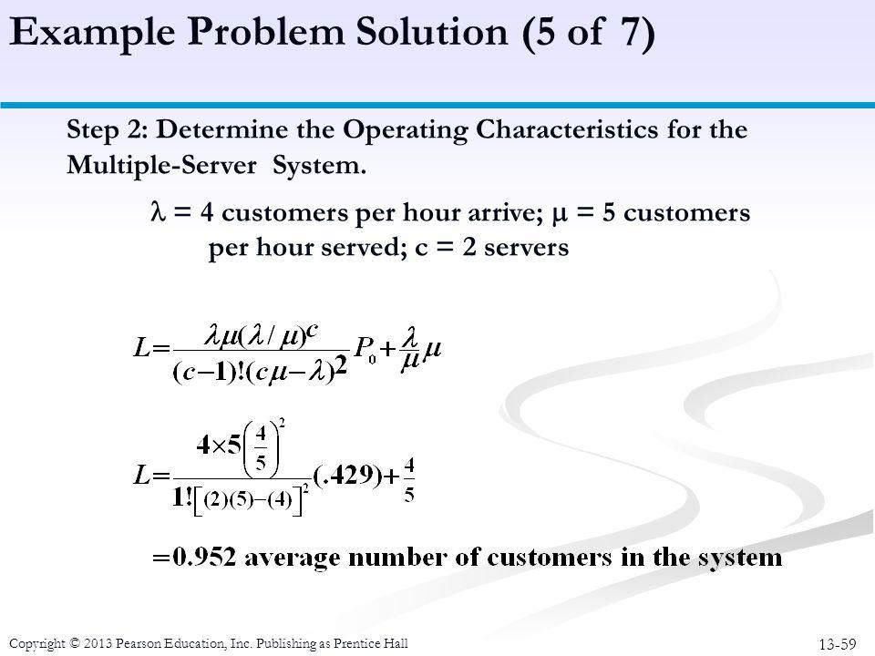 Example Problem Solution (5 of 7)