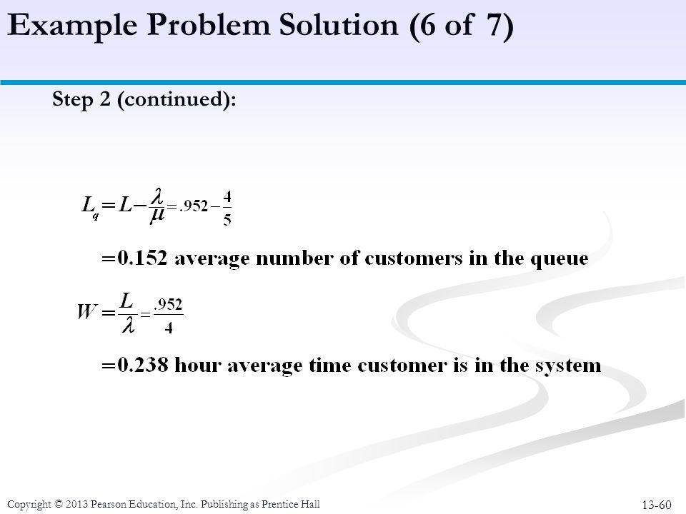 Example Problem Solution (6 of 7)