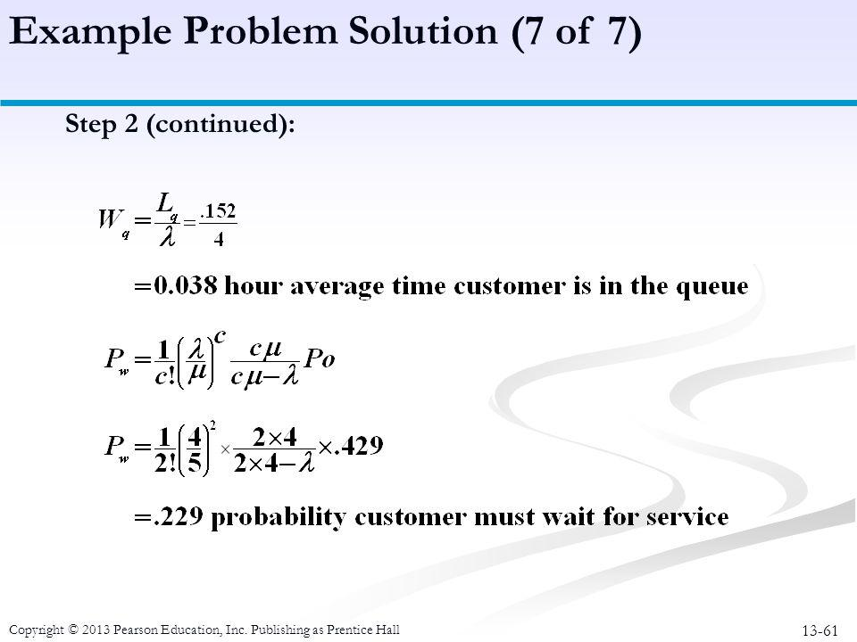 Example Problem Solution (7 of 7)