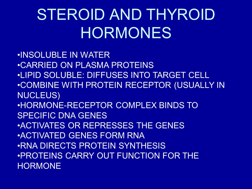STEROID AND THYROID HORMONES