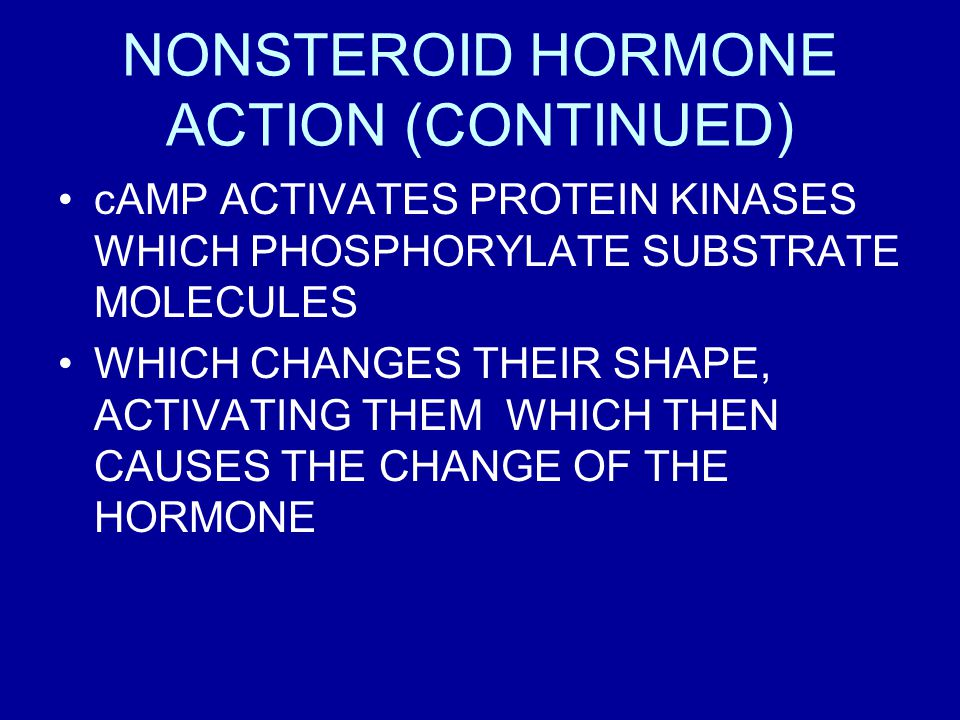 NONSTEROID HORMONE ACTION (CONTINUED)